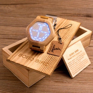 Unique Style LED Bamboo Watch - The Perfect Gift Wrist Watch
