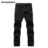 Mens Winter Thick Fleece Waterproof Outdoors Pants