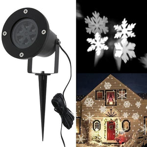 Outdoor LED Snowflake Projector Light Star Lawn Lamps Light