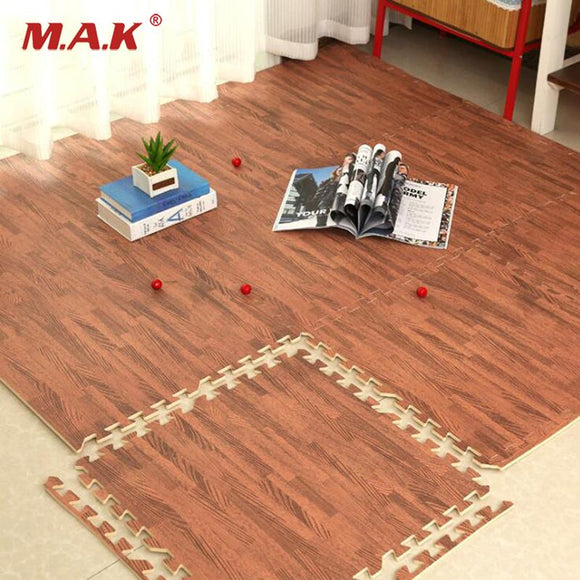 Faux Hardwood Floor Interlocking Foam Tiles