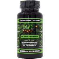 CBD CAPSULES 375 MG BY HEMP BOMBS| 25 CAPSULES