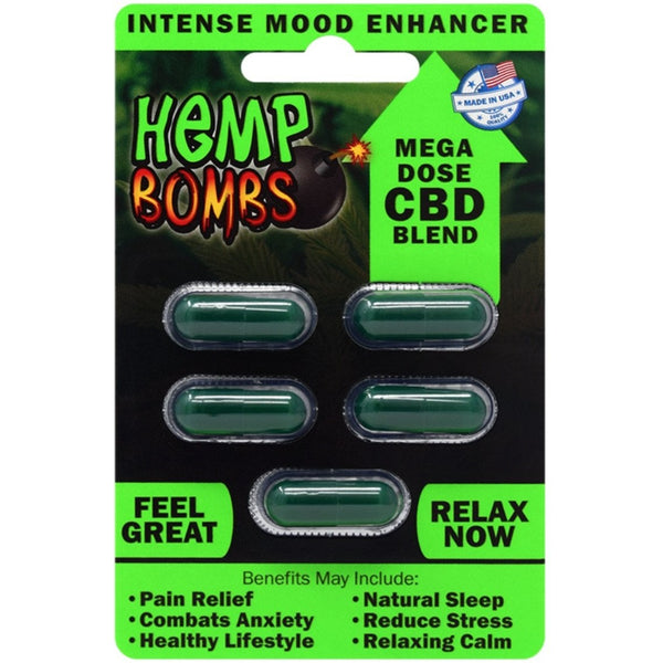 CBD 5 Capsules by HEMP BOMBS