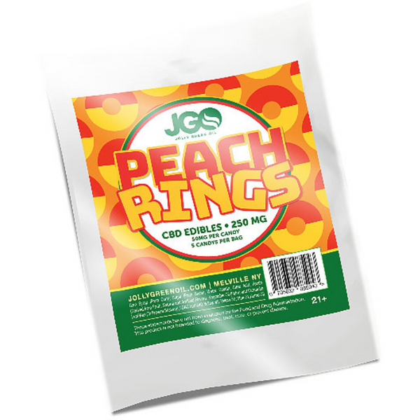 Jolly Green (250mg) CBD PEACH RING Gummies