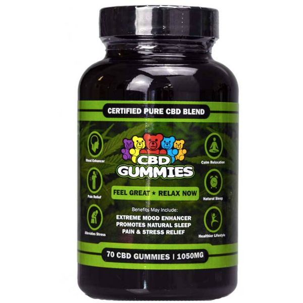 CBD Gummies 70 Count By HEMP BOMBS 1050MG