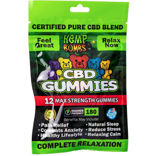 Hemp Bombs CBD Gummies 12 Count
