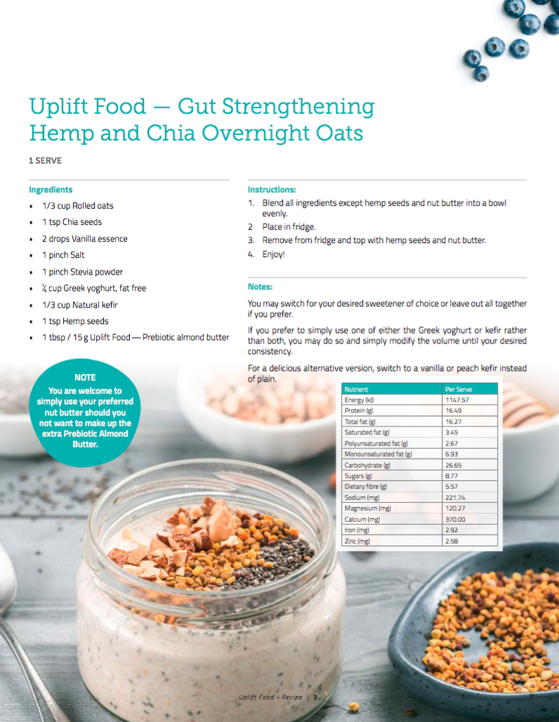 Uplift Food Overnight Gut Health Recipe