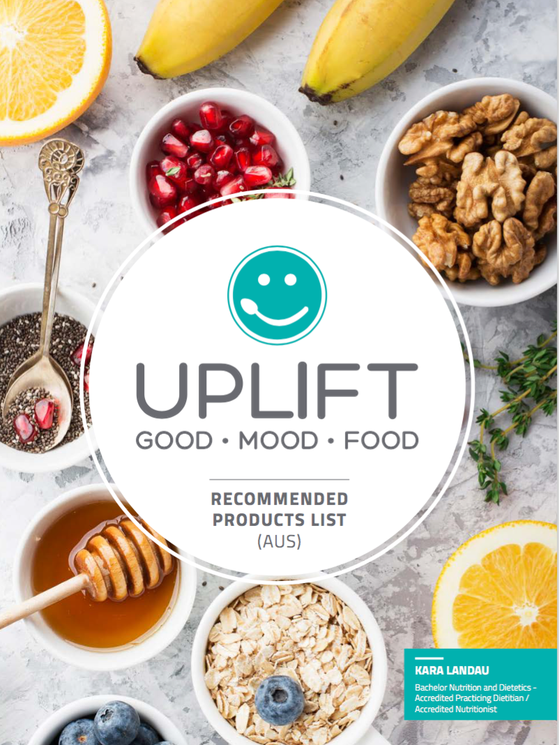 Uplift Food Recommended Product List