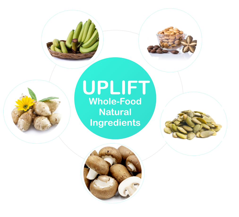 Uplift Food Daily Uplifter USA Ingredients Prebiotic Mood Supplement