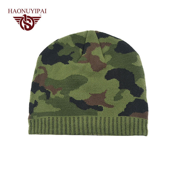 9bd8f6220dc27 Winter Warm Camouflage Hats For Men Women Reversible Snowboard Skiing  Skating Knitted Cap Beanies Skullies Hat