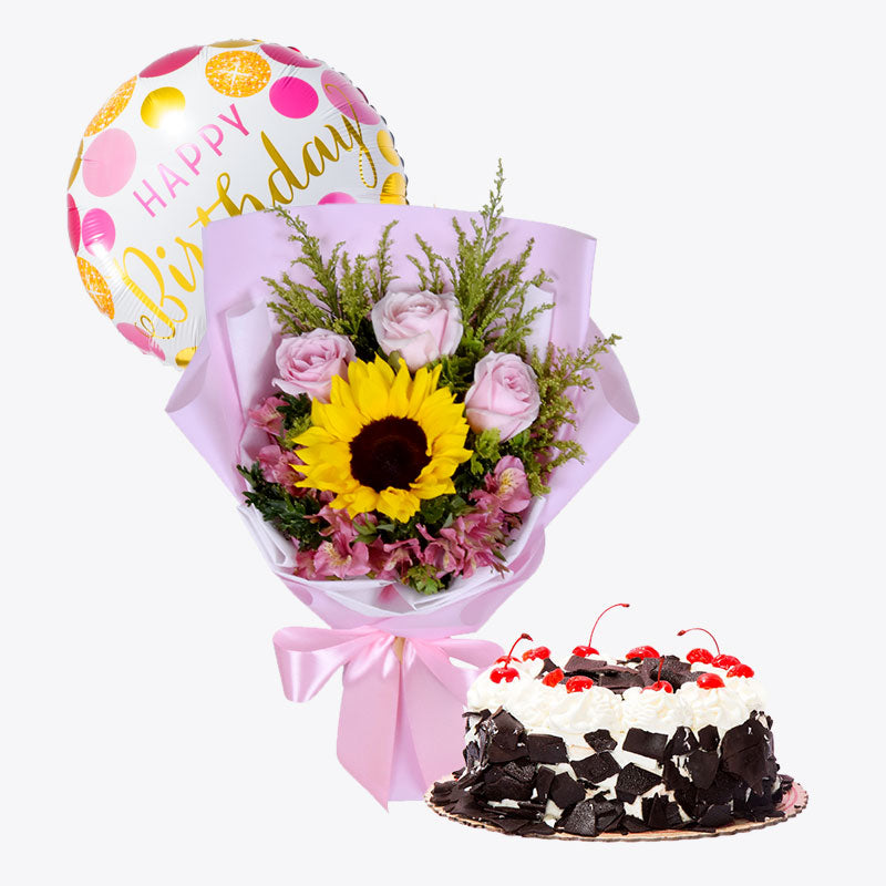 Pink Puff + Black Forest Cake Bundle