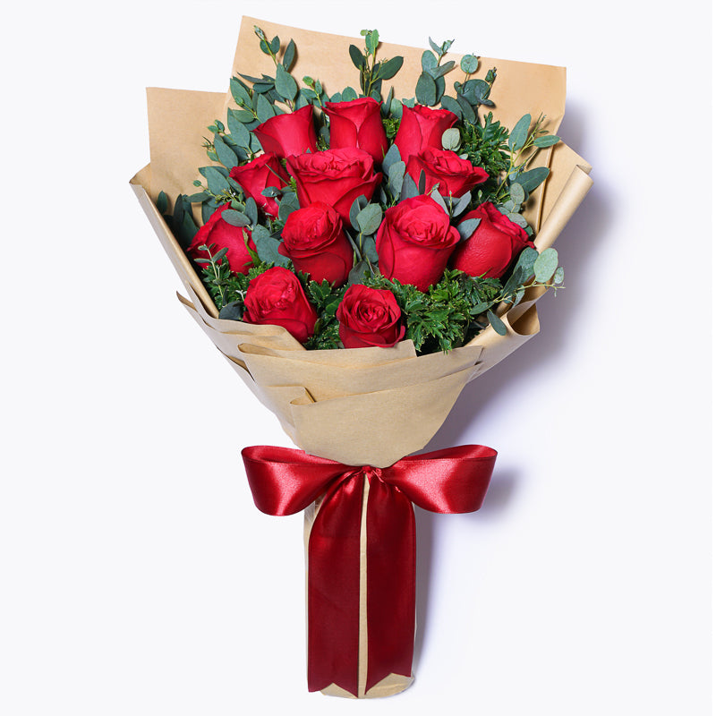12 Red Roses Korean Style