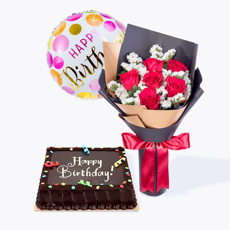 Birthday Bundle Deals | Birthday Flower Chocolate Balloon Delivery | Flower Chimp