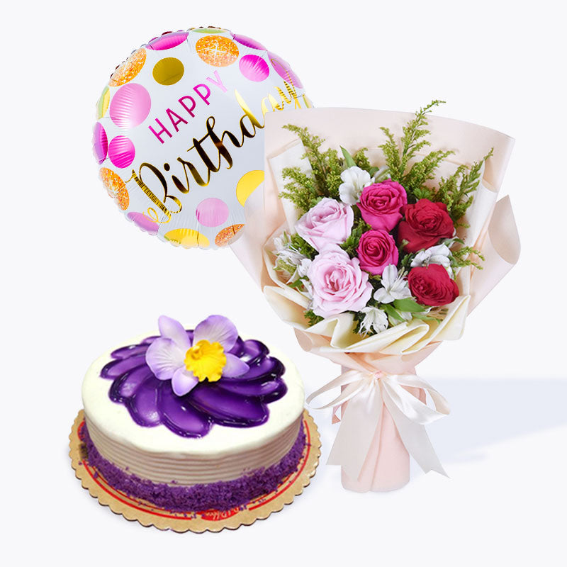 La Vie En Rose + Ube Cake Bundle