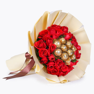 30 Red Roses and Ferrero