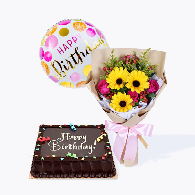 Berry Beautiful + Happy Birthday Cake Bundle