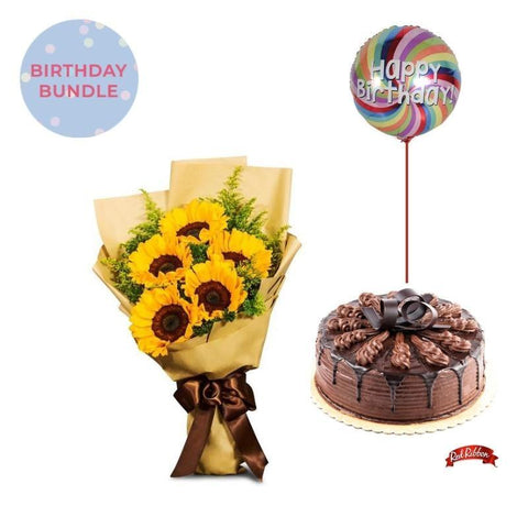 Bloomy Days + Chocolate Indulgence Cake Bundle Flowers_Bouquet