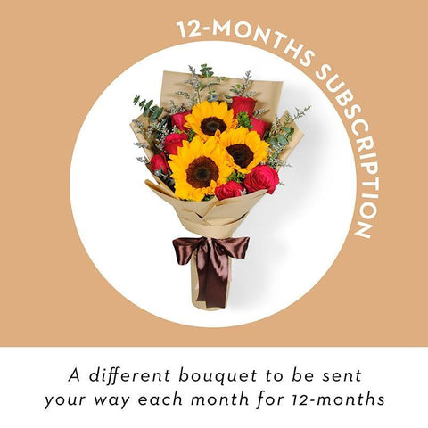 Bouquets - 12 Month Package Subscription