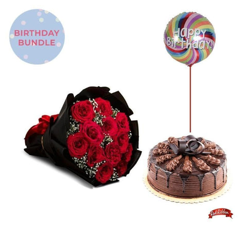 Jade + Chocolate Indulgence Cake Bundle Flowers_Bouquet