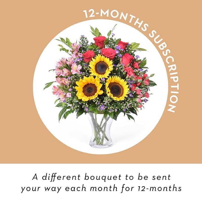 Vase Flowers - 12 Month Subscription