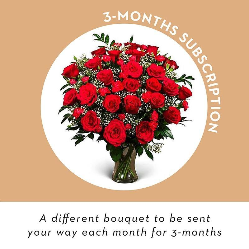 Vase Flowers - 3 Month Subscription