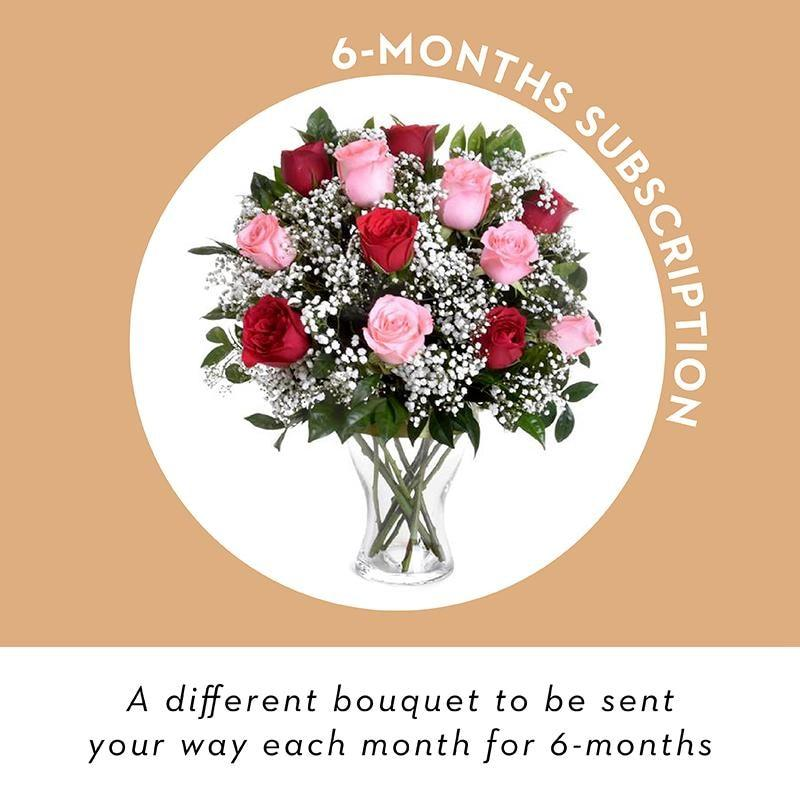 Vase Flowers - 6 Month Subscription