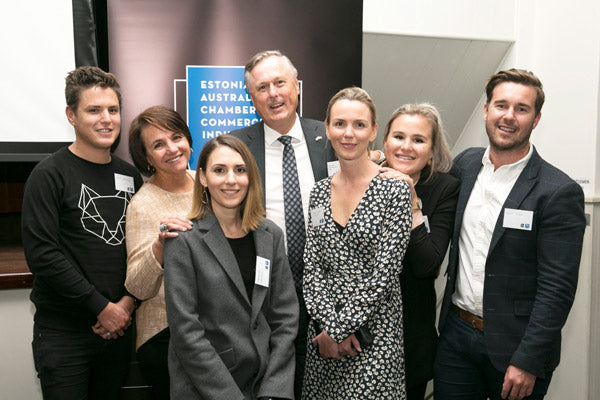 Honorary Consul of Estonia in Sydney, Sulev Kalamäe with family
