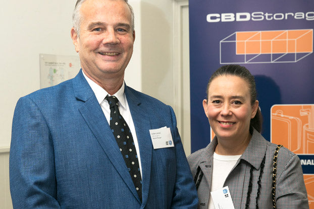 Rupert Jeffrey and Marcia Bussell from CBD Storage