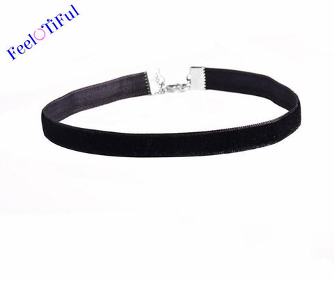 Black Charm Necklace Choker