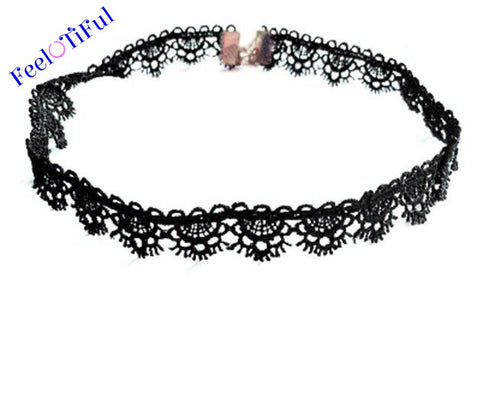 Black Flower Lace Necklace Choker
