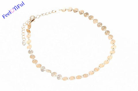 Shined Round Shape Connector Choker (Silver, Gold)
