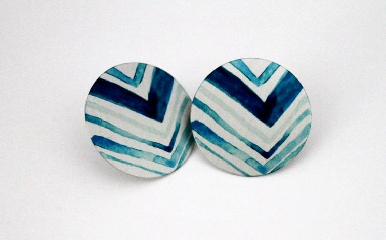 Blue Mountains 1 Inch Earrings