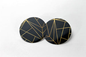 Elements in Black 2 Inch Earrings