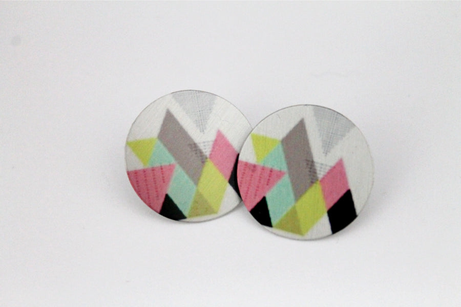 Modern Geometric 1 Inch Earrings