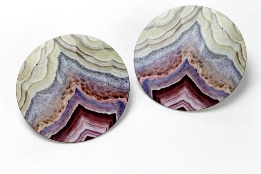 Rose Agate 2 Inch Earrings