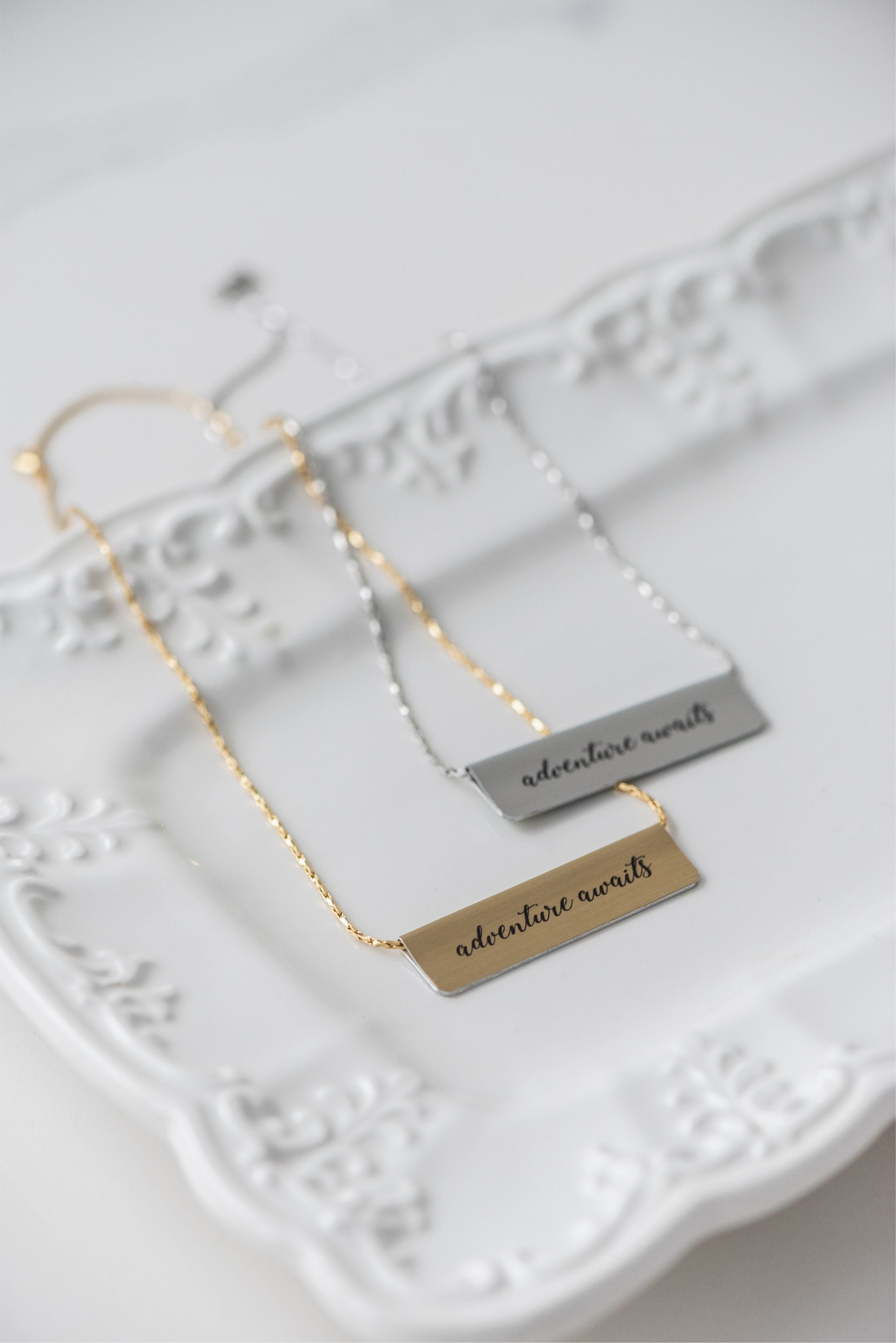 World Map Bar Necklace