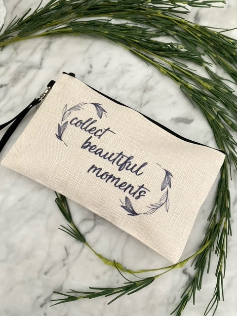 Collect Beautiful Moments Linen Zippered Bag