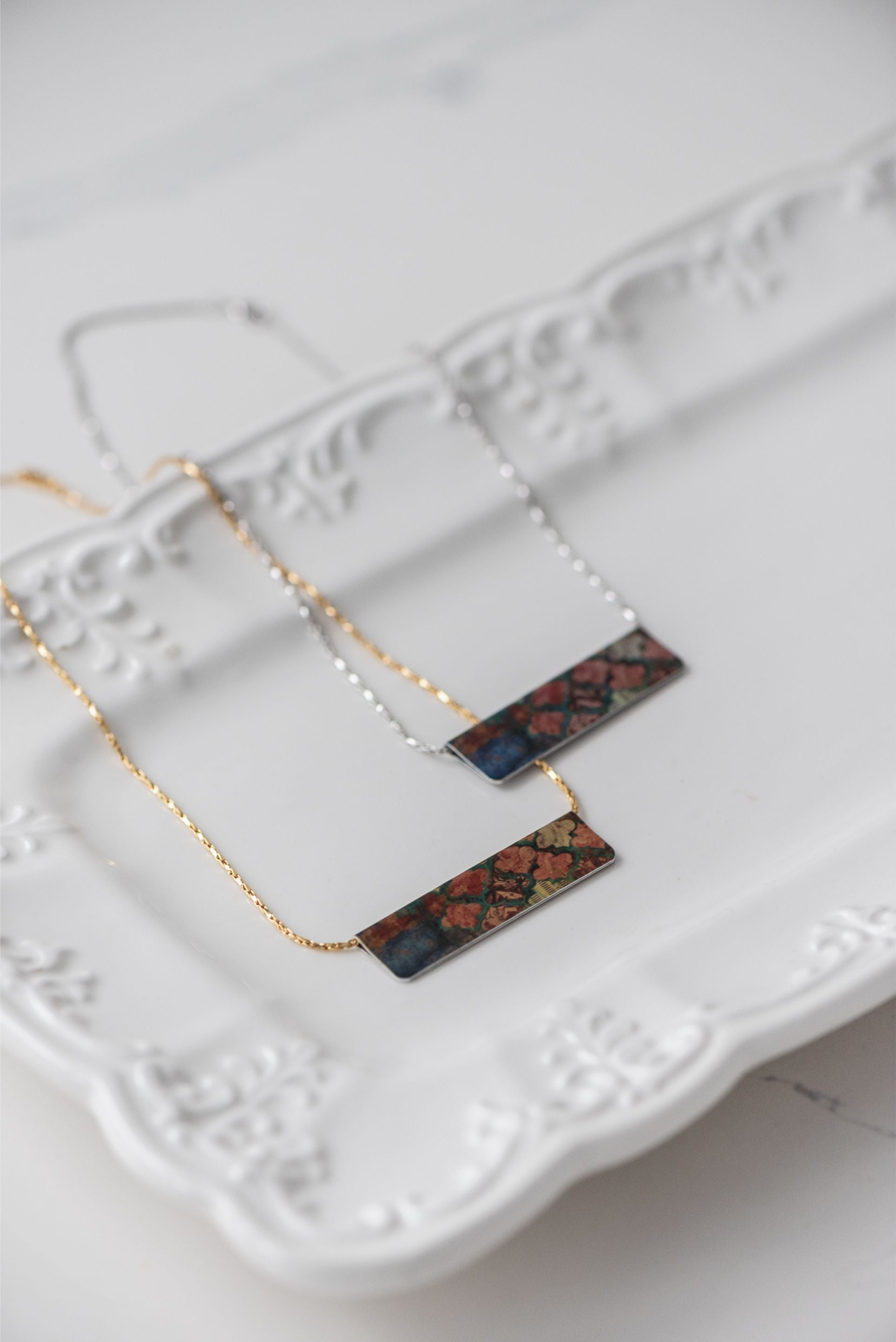 Harvest Lattice Bar Necklace