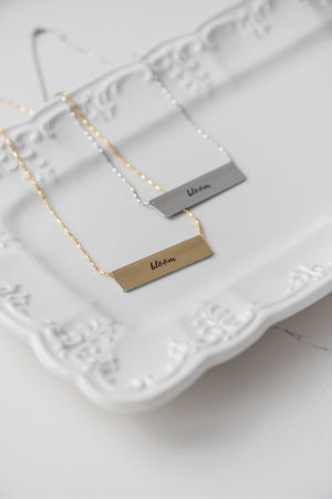 In Bloom Bar Necklace