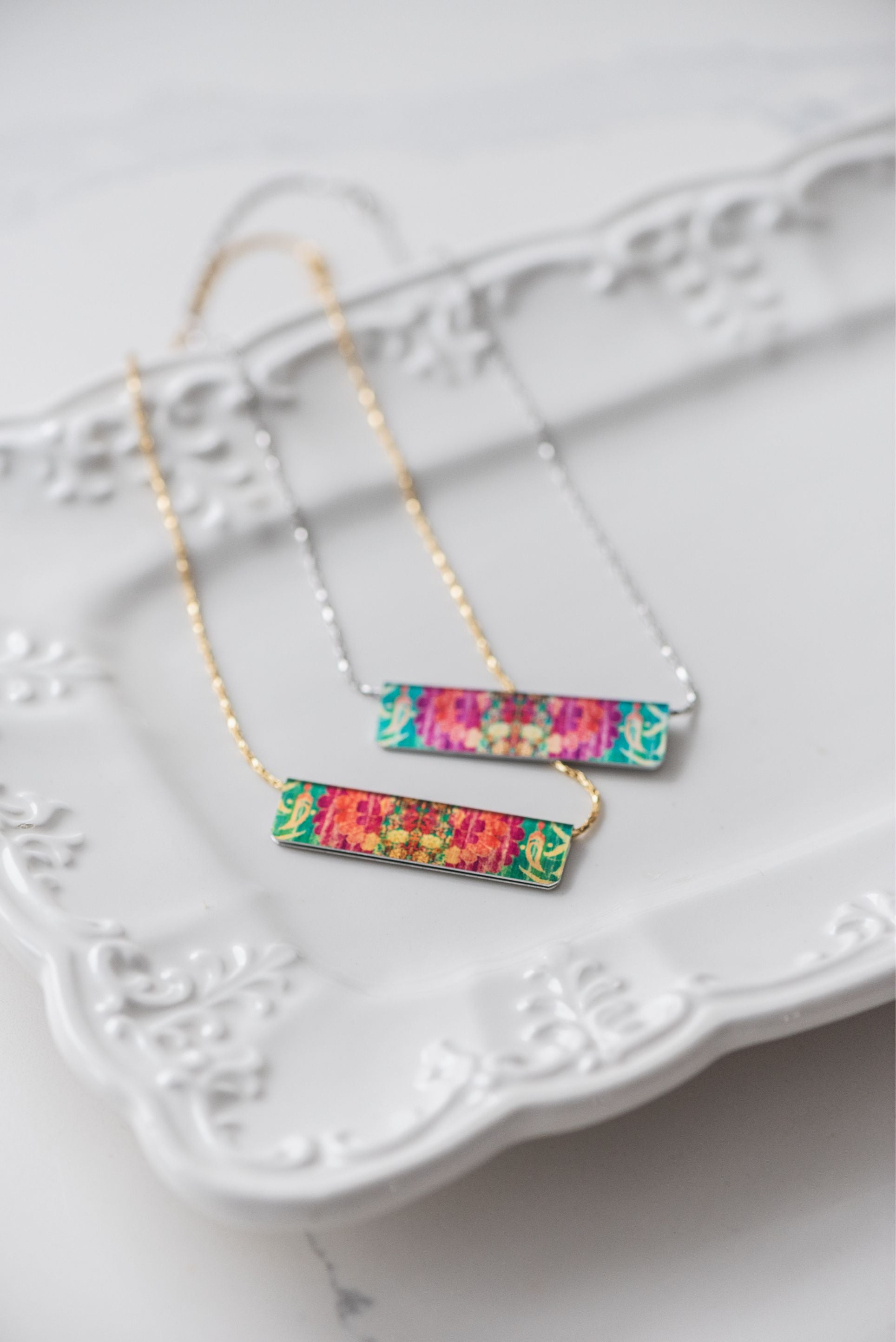 Kaleidoscope Bar Necklace
