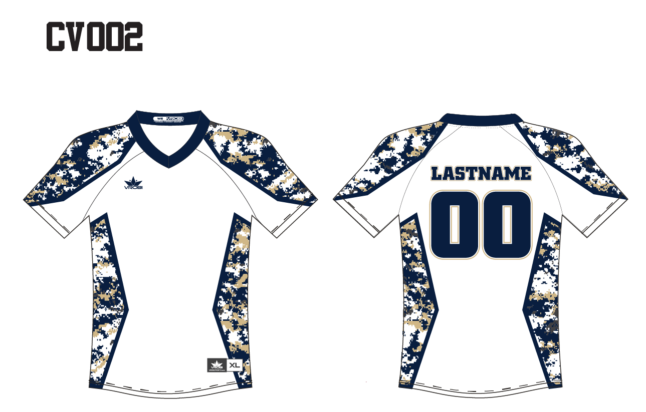 V-Neck Jersey Full Dye Sublimated with Digital Camo design