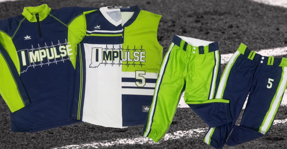 Team Uniforms for Fastpitch Softball Team showing Throwback look