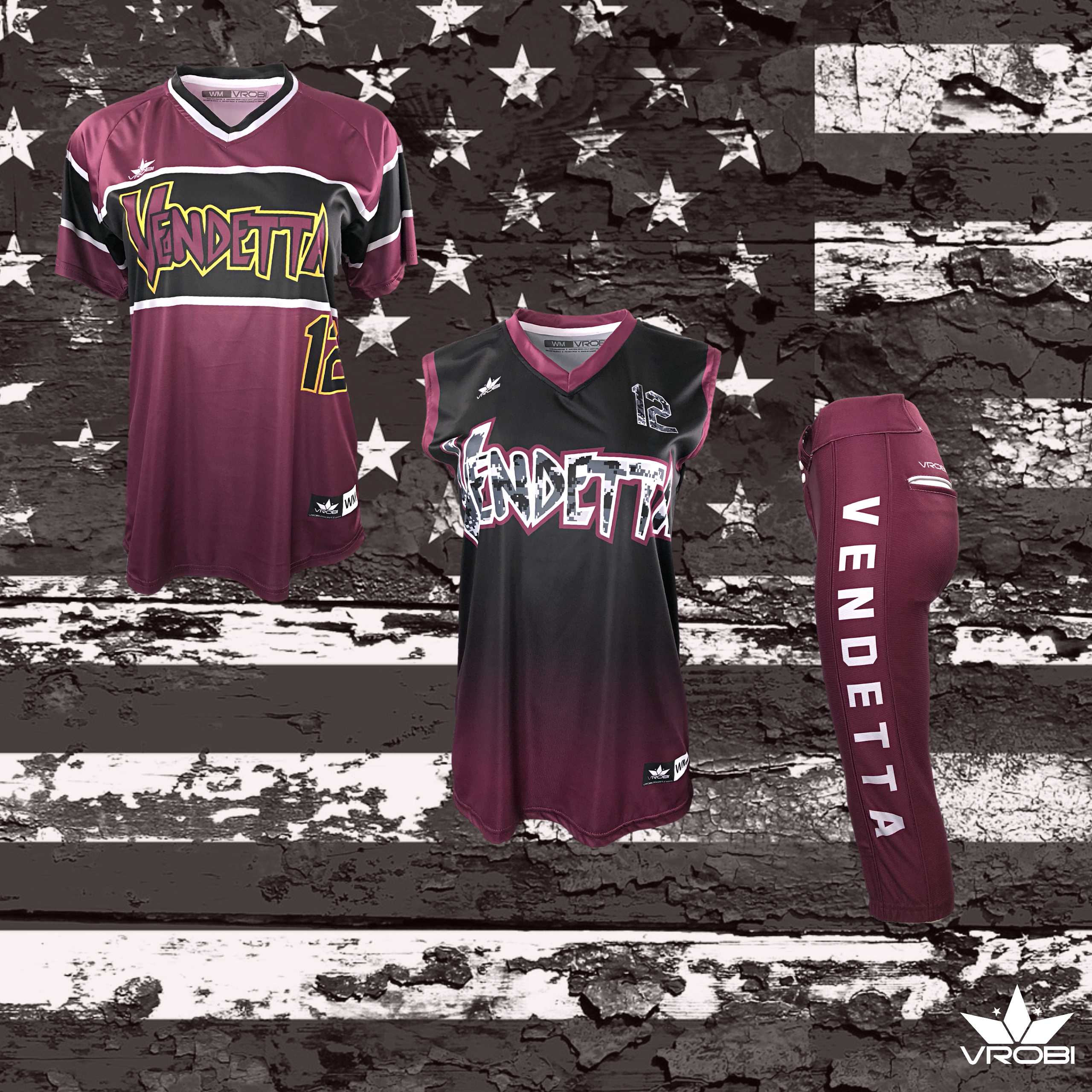 Bronze Team Package for Softball Teams showing Custom Full Due Uniforms and Bat Pack