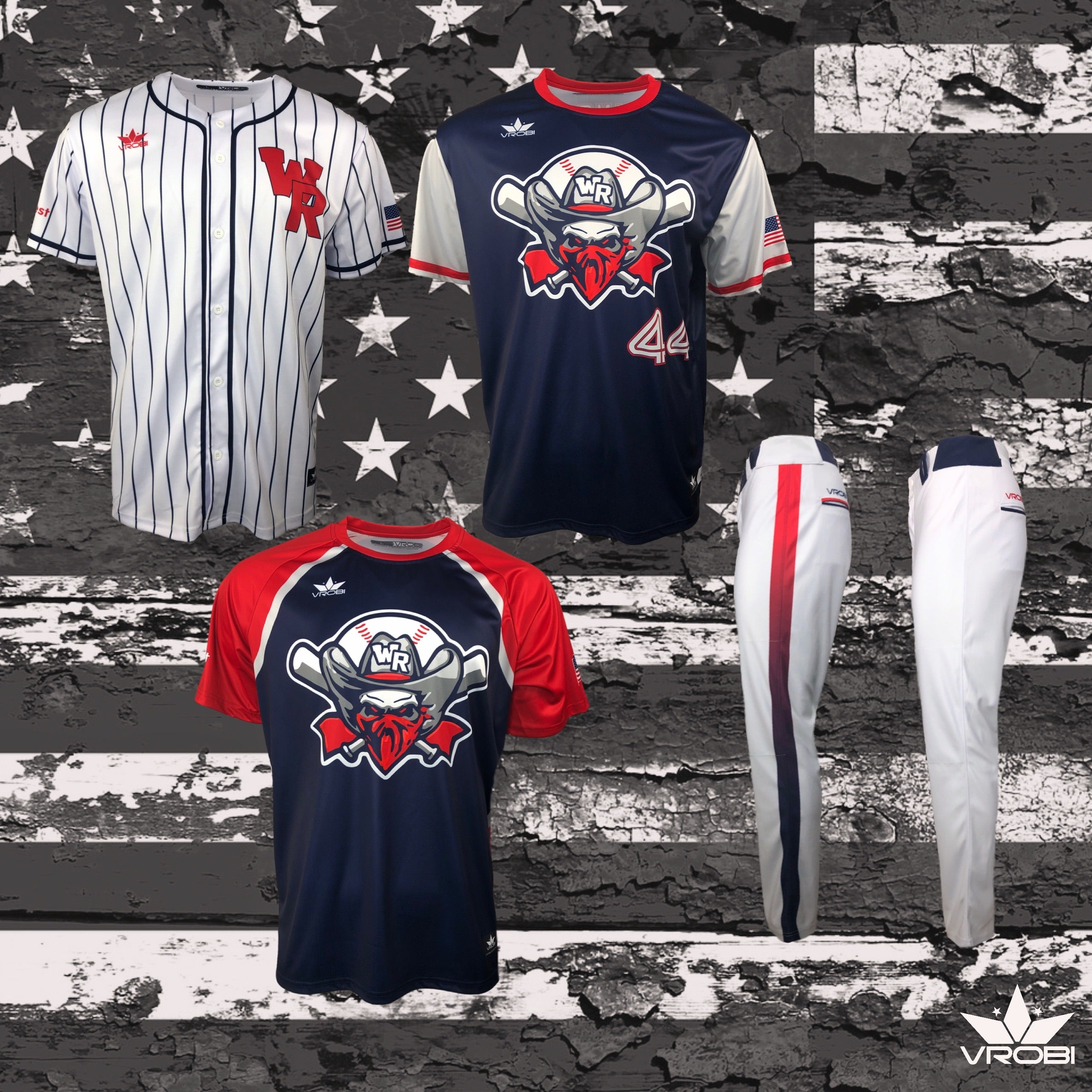 Silver Team Package for Men's Slowpitch Softball Teams showing full dye uniforms