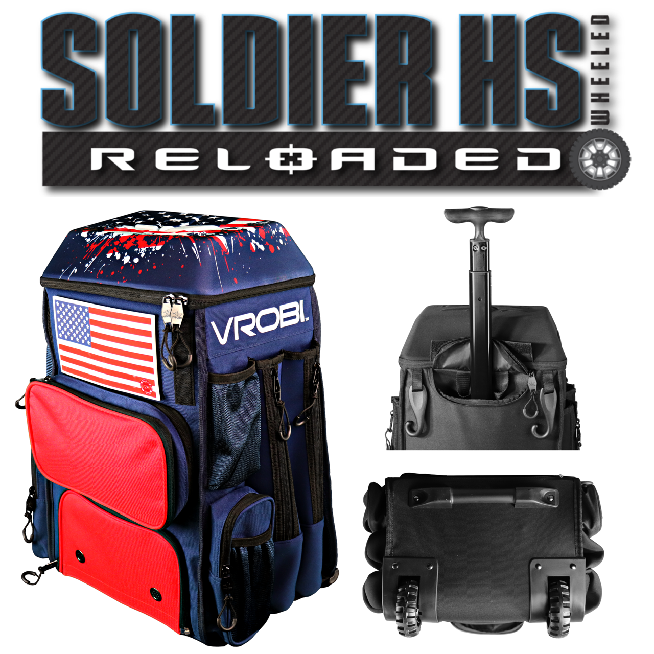 Soldier HS Reloaded Wheeled Bag Different Views