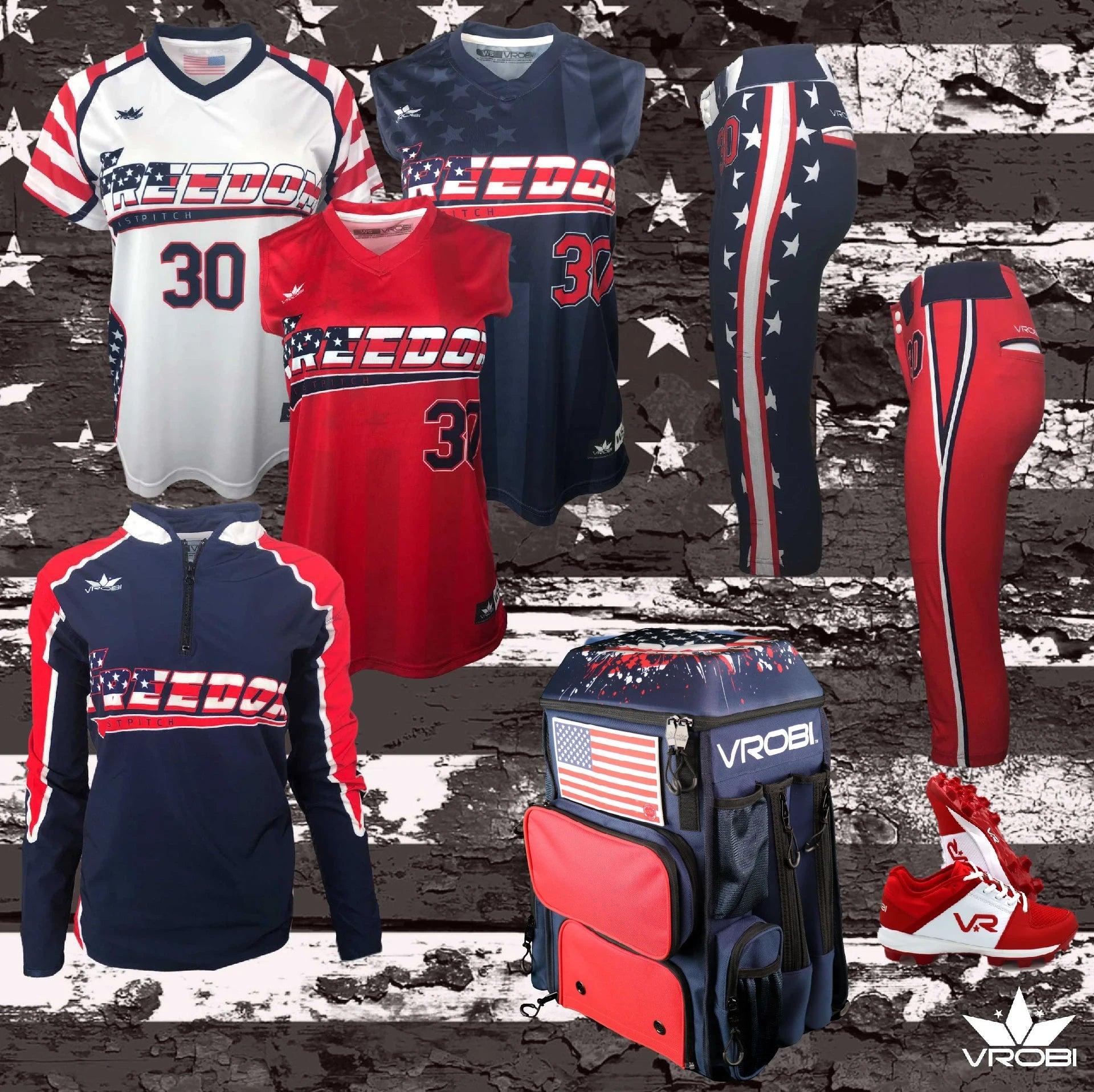 Platinum Plus Package for Fastpitch Softball showing custom uniforms and Bat Pack