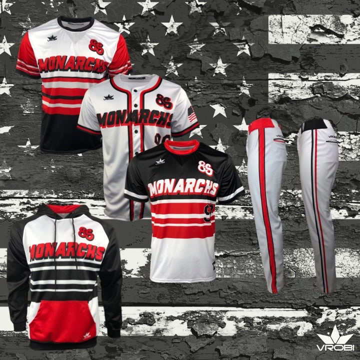 Gold Team Package for Slowpitch Softball showing Custom Sublimated uniforms