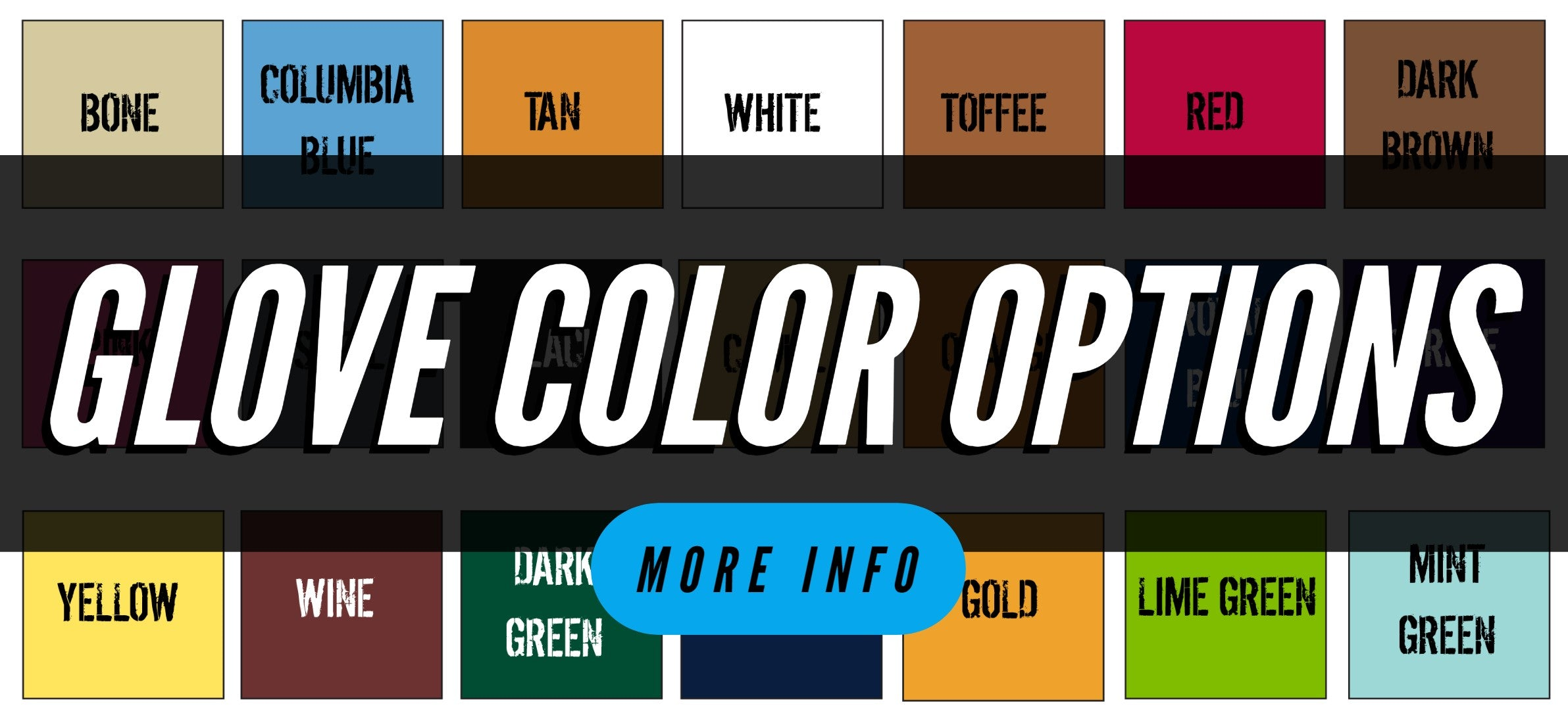 Link with all Glove colors available for One Nation Glove line