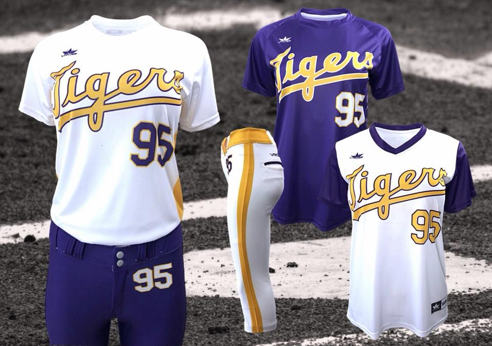 Softball Jerseys and Pants with retro look