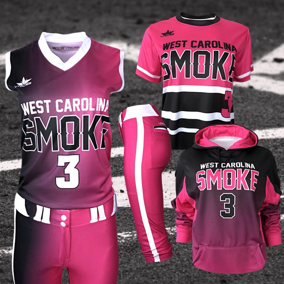 Custom Uniforms with Fade and Throwback Stripe Look