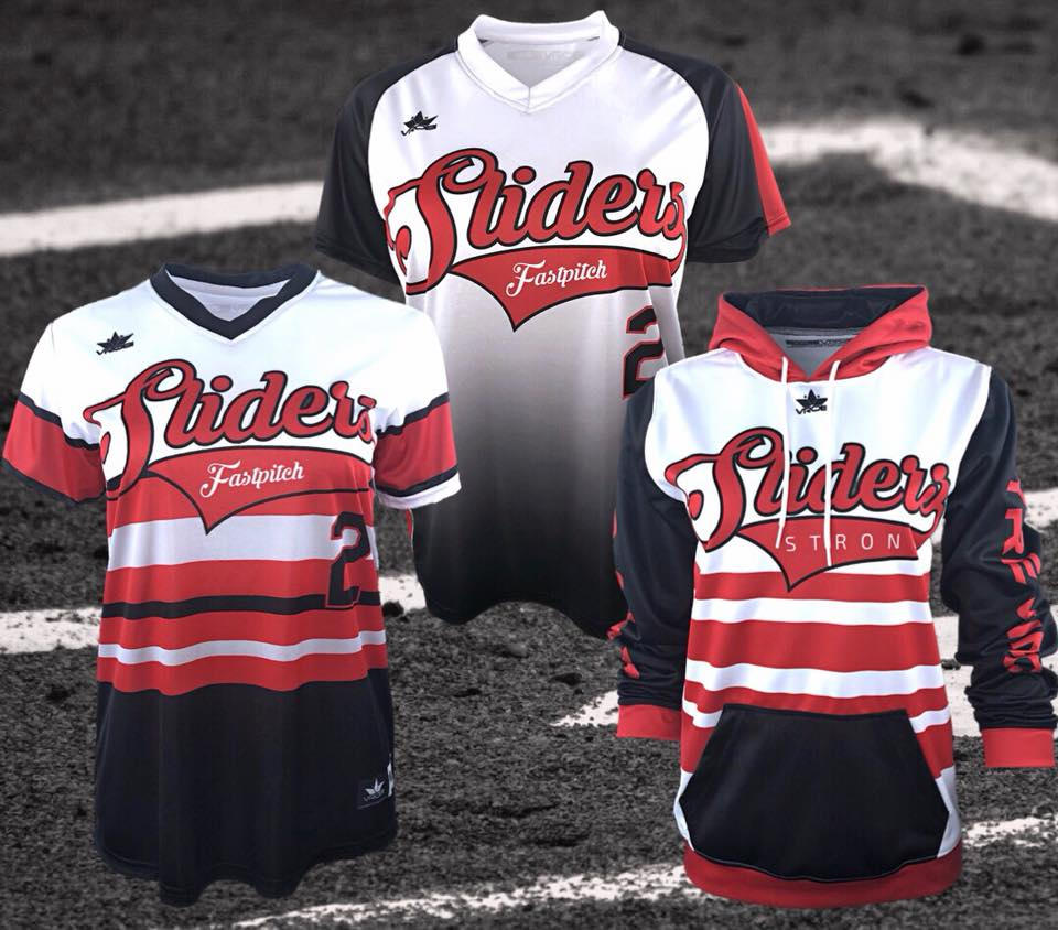 Fastpitch Softball Jersey and Hoodie with Throwback Stripe Design